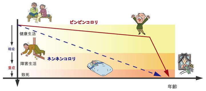 ピンピンコロリの流れ解説